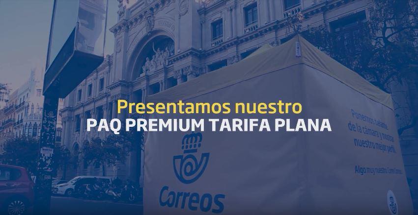 GRUPO INRED REALIZA UNA ACCIÓN DE STREET EN VALENCIA PARA COMUNICAR LA TARIFA PLANA DE LA PAQUETERÍA DE CORREOS.